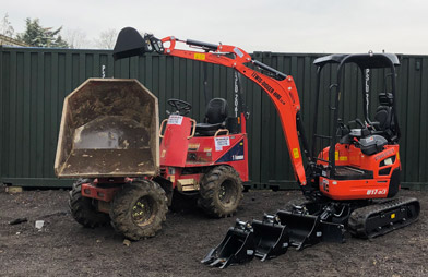 Lewis Digger Hire: swivel skip dumpers for hire in Essex