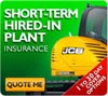 Get an insurance quote for short-term plant hire